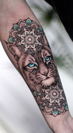 Mandala tattoo design - 50 of the Most Beautiful Mandala Tattoo Designs for Your Body & Soul – Mandala tattoo design Mandala Tattoo Design, Animal Mandala Tattoo, Half Mandala Tattoo, Sexy Tattoos, Small Tattoos, Cool Tattoos, Tattos, Flower Tattoos, Cat Tattoo