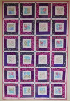 Fuschia Squares made by Peggy Nagle, Elora, Ontario Canada