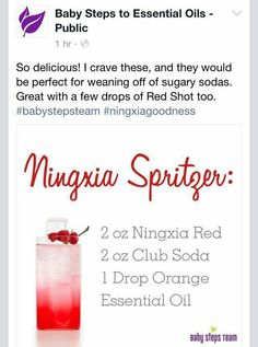 Ningxia Spitzer using Young Living's Ningxia Red juice