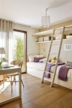 Dos hermanas, dos espacios y un solo dormitorio · ElMueble.com · Niños