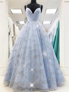 Stunning Prom Dresses, Pretty Prom Dresses, Tulle Prom Dress, Prom Dresses Blue, Evening Dresses, Princess Prom Dresses, Pageant Dresses, Blue Quinceanera Dresses, Cheap Elegant Dresses