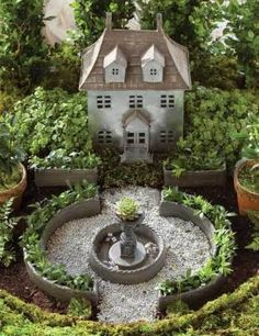 "WANT THIS!! miniature french chateau ""fairy garden kit"""