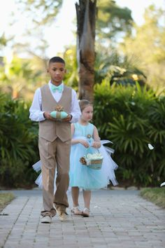 The cutest ring bearer and flower girl ever! Image: Anchor and Ivory Photography