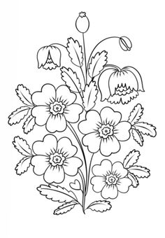 Petrykivka Painting Flowers Coloring page
