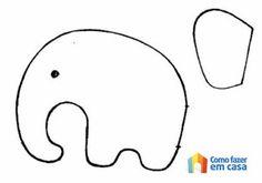 Molde de elefante para artesanato