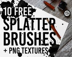 10 Free Ink Splatter Photoshop Brushes and PNG Textures