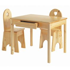 Kids Wooden Table & Chairs Set