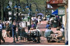 This summer, why not sit on a restaurant patio on a beautiful day in Charlottesville, VA?