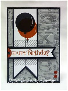 Friday, October 18, 2013 Stampin' Up! Birthday by Nikki S at my sandbox: Just Add Ink #187...