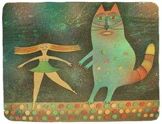A CAT AND A DANCER .