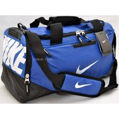 Nike Max Air Blue and Black Tarpaulin Small Duffel Bag for $50.00 at OrlandoTrend.com #Nike #Duffel #Gym #Bag #Gimnasio #OrlandoTrend