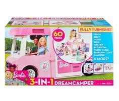 BARBIE Camping-car de rêve 3-en-1 pas cher - 😍Découvrir ici - #MaxiToys #Barbie #jouets #JouetsFille #jeux #Enfants #jeu #jouet #Noel #cadeaux #toys Mattel Barbie, Barbie Camper, Camping Car Barbie, Fisher Price, Sleeping Under The Stars, Barbie World, Pick Up, Little Ones, Toy Chest