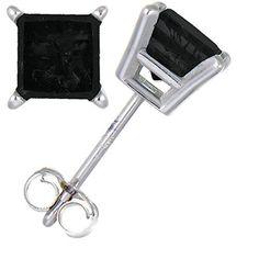 Vir Jewels 2/3 CT Black Diamond Stud Earrings Sterling Silver by Vir Jewels - See more at: http://blackdiamondgemstone.com/jewelry/earrings/stud/vir-jewels-23-ct-black-diamond-stud-earrings-sterling-silver-com/#sthash.rD46zuv0.dpuf