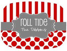 Alabama Roll Tide Platter