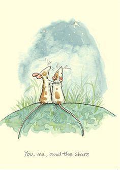 Anita Jeram - You and me. Art And Illustration, Watercolor Animals, Watercolor Art, Cute Drawings, Animal Drawings, Anita Jeram, Cute Rats, Bunny Art, Whimsical Art