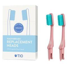 Náhradní hlavice k zubnímu kartáčku Medium - korálově růžová TIO Personal Care, Medium, Self Care, Personal Hygiene, Medium Long Hairstyles