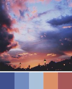 Clouds color palette