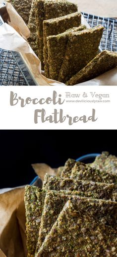 #raw #vegan Broccoli Flatbread   Deviliciously Raw
