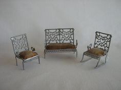 Antique Adrian Cooke Soft Metal Dollhouse Furniture  by TheToyBox