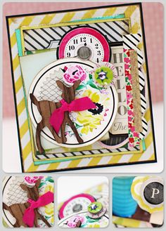 Christine_Middlecamp_Crate-Paper- love the deer and then the yellow combined with the pops of fuschia