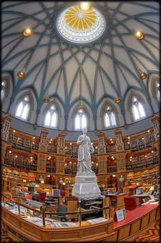 Library of Parliament, Centre Block, Parliament Hill, Ottawa, Canada | by Uncle_Greg, via Flickr