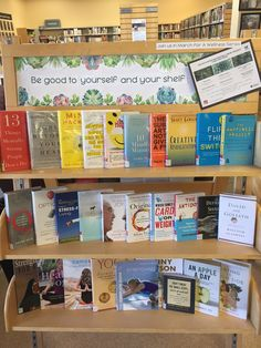 Feb/March display - be good to yourself and your shelf - Wellness books