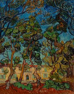 Vincent van Gogh (1853–1890), Hospital at Saint-Rémy, 1889, oil on canvas, 36 5/16 x 28 in. The Armand Hammer Collection, gift of the Armand Hammer Foundation. Hammer Museum, Los Angeles.