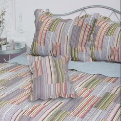 You'll love the Dayton Stripe Quilt at Wayfair - Great Deals on all Bed & Bath products with Free Shipping on most stuff, even the big stuff.