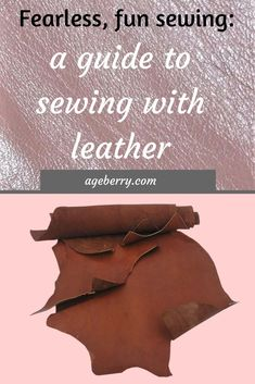 Sewing Techniques Couture This is a step-by-step tutorial on how to sew leather with a domestic sewing machine. Sewing leather, leather sewing tools, thread for sewing leather, leather sewing needles. Easy Sewing Projects, Sewing Projects For Beginners, Sewing Hacks, Sewing Tutorials, Sewing Ideas, Sewing Needles, Leftover Fabric, Sewing Leather, Sewing Tools