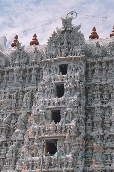Hindu temple at Suchindrum, Southern India.