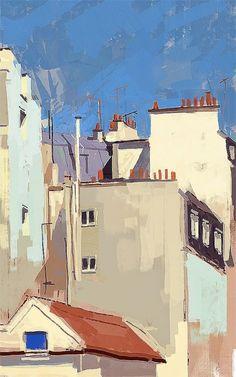« Respirer Paris, cela conserve l'âme. » [Victor Hugo] Thierry Duval- les toits de Paris