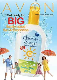 Get ready with BIG family-sized fun & freshness with new Heaven Scent Spash Cologne family size in 300ml! Find out about this amazing product by checking out our online brochure at http://www.avon.com.ph/PRSuite/pr_ebrochure.page