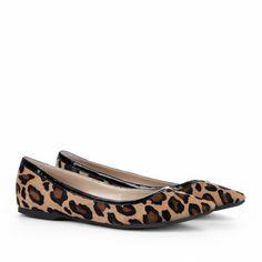 Sole Society - Pointed toe flats - Karida - Dark Camel Multi   WANT!