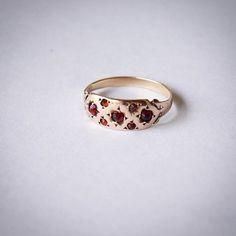 Antique 10k garnet ring now online