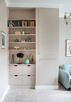 my scandinavian home: Lessons To Learn From A Colourful Yet Calm Norwegian Home Corner Storage, Built In Storage, Tall Cabinet Storage, Norwegian House, Childrens Bedroom Decor, Interior Decorating, Interior Design, Interior Stylist, Shelving Solutions