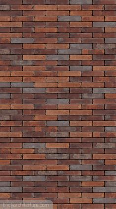 Vandersanden - 513 Billund WS - Brick Texture - Manufactured in:Europe Type:handformed Texture:wasserstrich Colour type:varied Colour:red, purple # - Brick Texture, 3d Texture, Tiles Texture, Brick Design Wallpaper, Wall Tiles Design, Brick Cladding, Wall Cladding, Brick Architecture, Drawing Architecture