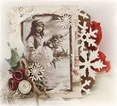 Image result for shabby chic christmas cards