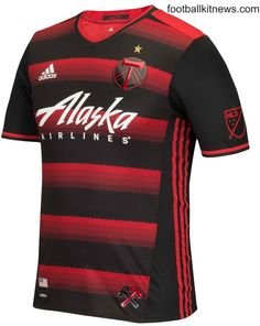 1024e60f15f Portland Timbers New Away Jersey Red & Black Timbers Alternate Shirt MLS  Adidas