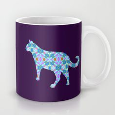 $15. Colorful #Cat #Mug by gretzky in my Cat Attack store