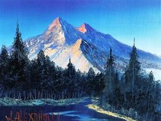 Painting Mountain Glaciers Complete Lesson Acrylic Paint How to - YouTube