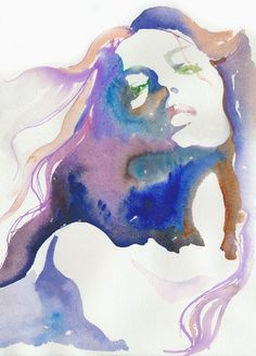 Watercolor girl   Artist: Cate Parr