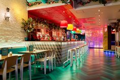 dtwo design have created another strikingly designed Latin American restaurant in Barrio East, London. This colourful space is full of quirky design detail. Design Bar Restaurant, Restaurant Concept, Cafe Restaurant, Restaurant Ideas, Bares Y Pubs, Best Happy Hour, Bar Design Awards, London Design Festival, Top Restaurants