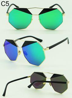 da5910f79369 US $15.38 |Aliexpress.com : Buy Summer 2016 Polygon Twin Beams Super Lovers Sunglass  Women Brand Designer Oversized Mirror Coating Big Frame Sunglasses ...