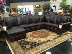 Your living room will transform into a rustic and Texas traditional retreat when you choose to invest in this spacious leather sectional from Gallery Furniture! You can trust that this piece will provide you and your family with a comfortable place to gather for years to come and we invite you to our 6006 N. Freeway GF location to see it TODAY! | Houston TX | Gallery Furniture |