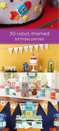 You'll find tons of DIY party inspiration with this collection of robot-themed birthday party ideas. Learn how to make everything from playful robot decorations to DIY party favors that your little one's guests can take home with them. Set up a dessert table where your toddler and his friends can decorate their very own edible robot rice cereal treats with icing, candy, and sprinkles!