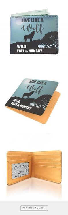 Only for the wolves. Get this amazing custom Men's Wallet with a live like a wolf print. #wallet #products