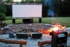 Outdoor Home Theater on a Budget Ideas!
