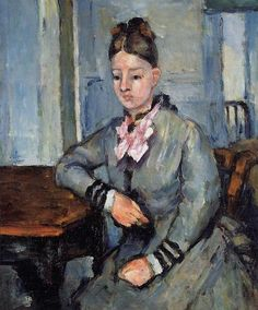 Madame Cezanne Leaning on a Table, 1873, Paul Cezanne