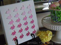Bunny Chip Paint Art I Heart Nap Time | I Heart Nap Time - How to Crafts, Tutorials, DIY, Homemaker