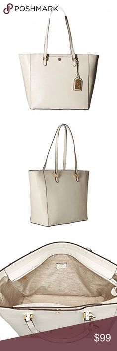9e0ce88a3f6 Lauren Ralph Lauren Leather White Tote Brand New! Ralph Lauren HandbagsRalph  ...